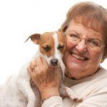 Happy Senior with Dog