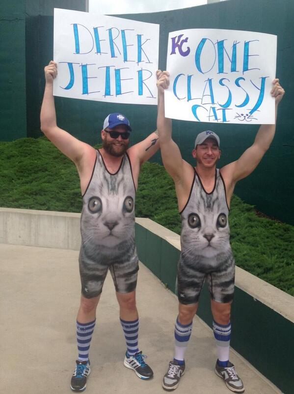 Royals Fans in Cat Shirts